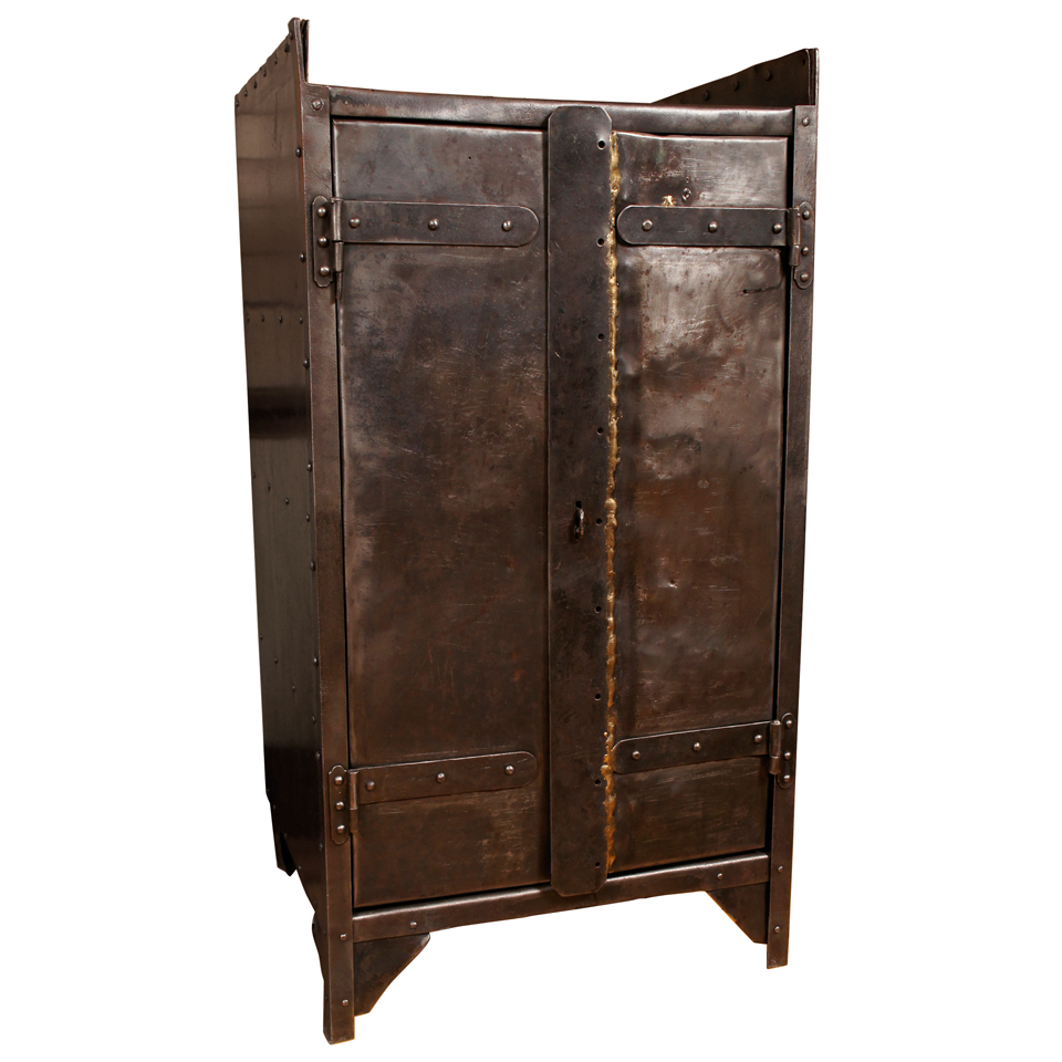 French industrial iron cabinet